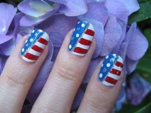 Rebel Flag Nail Art