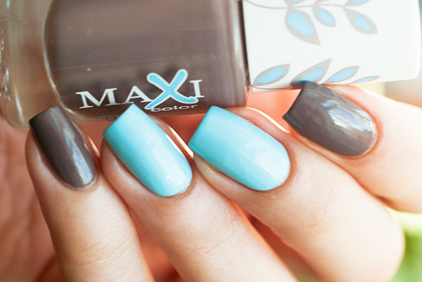 "Maxi color ""New palette"" gel effect №22 + Flormar Pretty P5"
