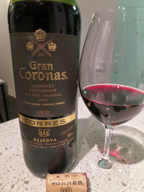 Wine Review of 2010 Torres Gran Coronas Cabernet Sauvignon Reserva from DO Penedès, Spain