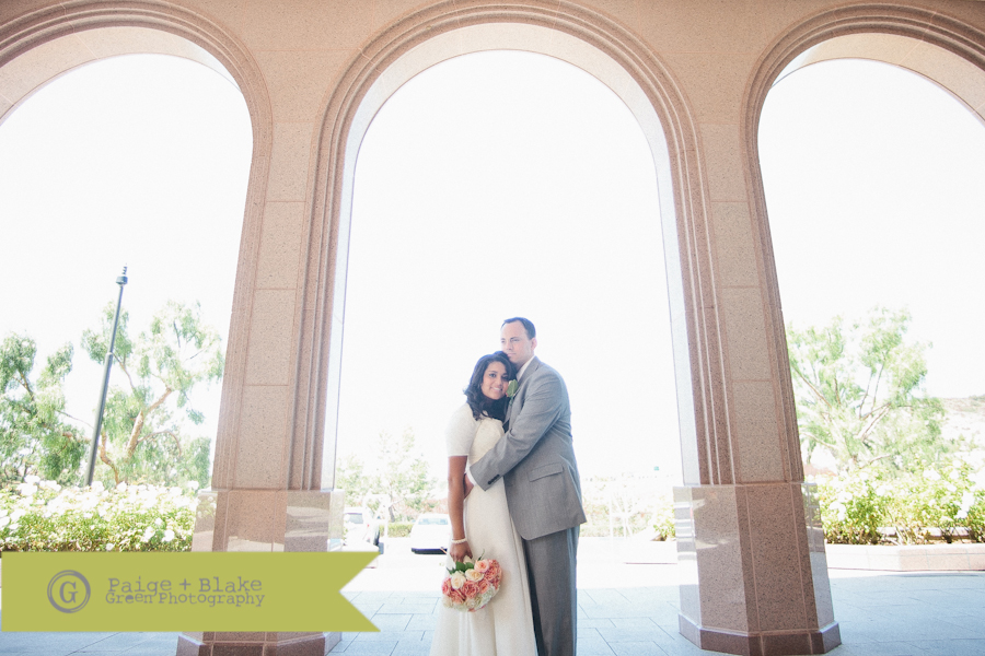 Newport beach LDS Temple Bride and Groom  : Photo by Paige and Blake Green