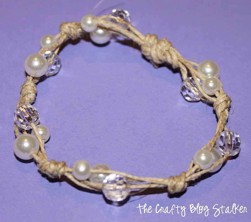 how to make a cute anklet with twine
