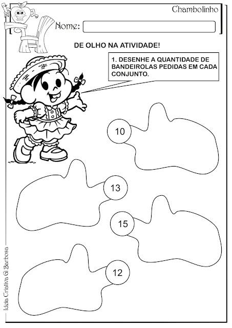 Atividade Matemática Conjuntos Festas Juninas