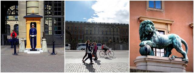 Palacio Real royal palace Stockholm Estocolmo Guards lion sun
