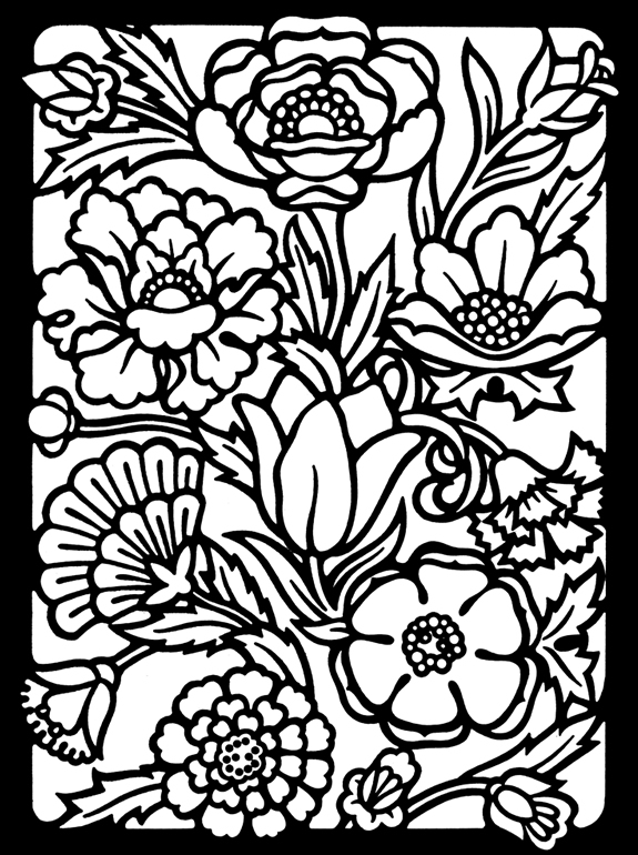 Inkspired musings what poland and california have in common for Stained glass coloring pages for adults