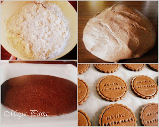 Preparing cacao cookies
