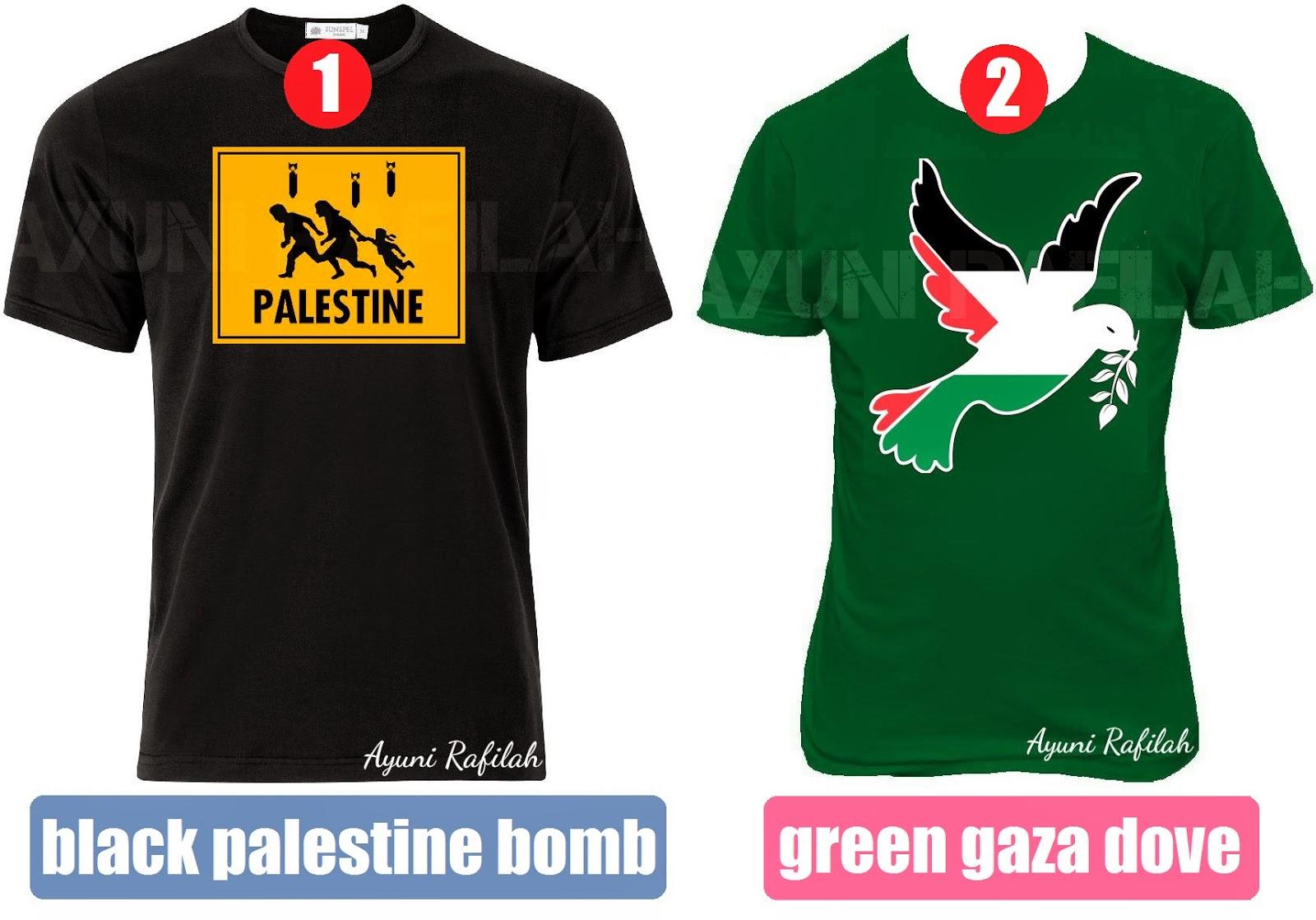 Pre Order T Shirt Save Gaza Free Palestin Batch Pertama