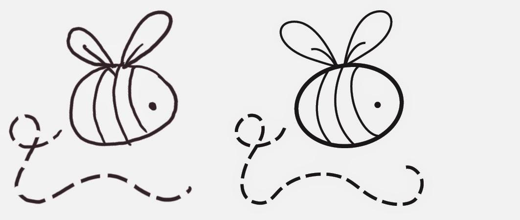 Simple Bee Sketch Wwwimgarcadecom Online Image Arcade