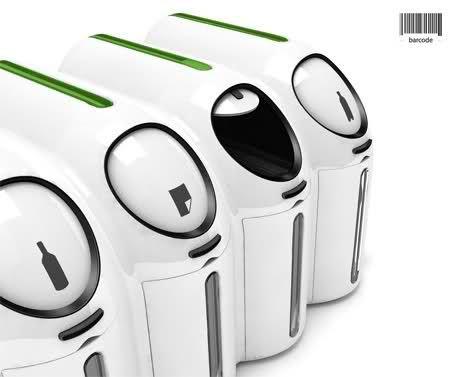 20 Tempat Sampah Terunik di Dunia: Barcode Recycle Station