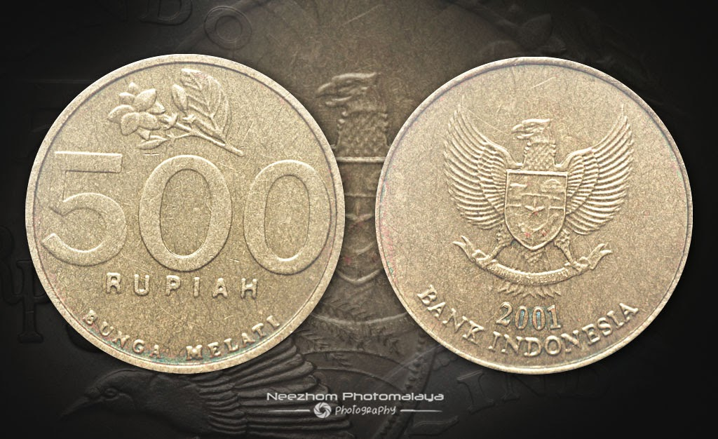 Indonesia coin 500 Rupiah 2001