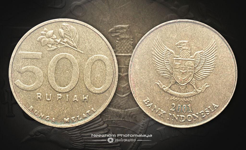 Indonesia coin 500 Rupiah 2001