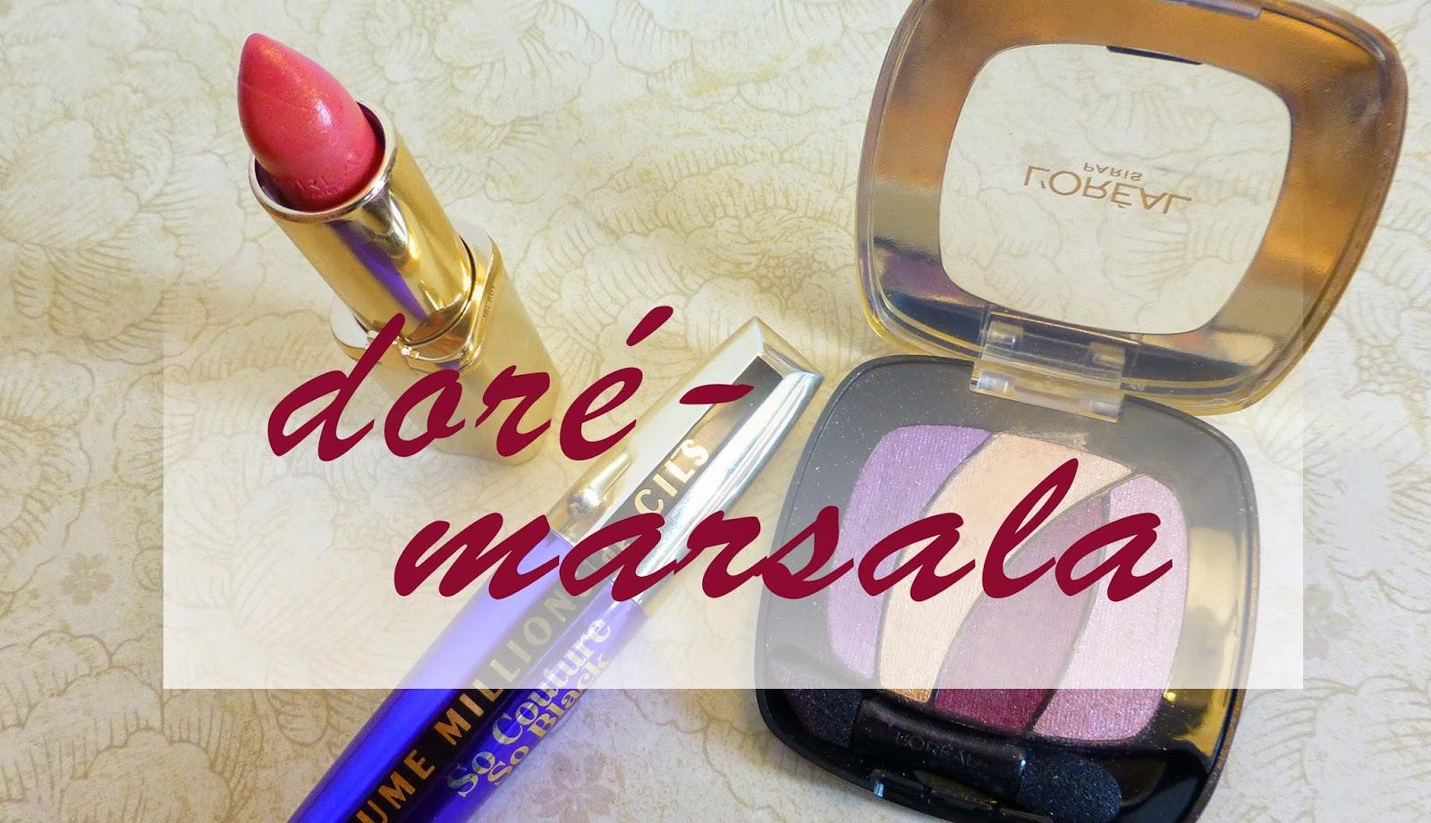Des yeux Marsala - Doré avec L'Oréal