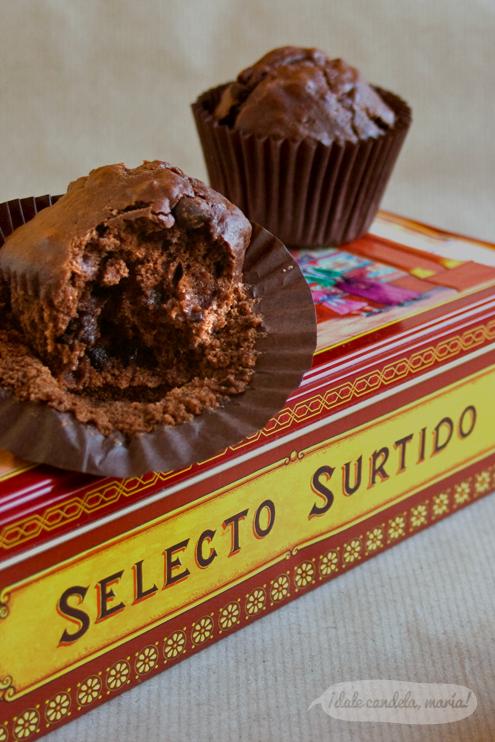 Receta fácil de magdalenas de chocolate
