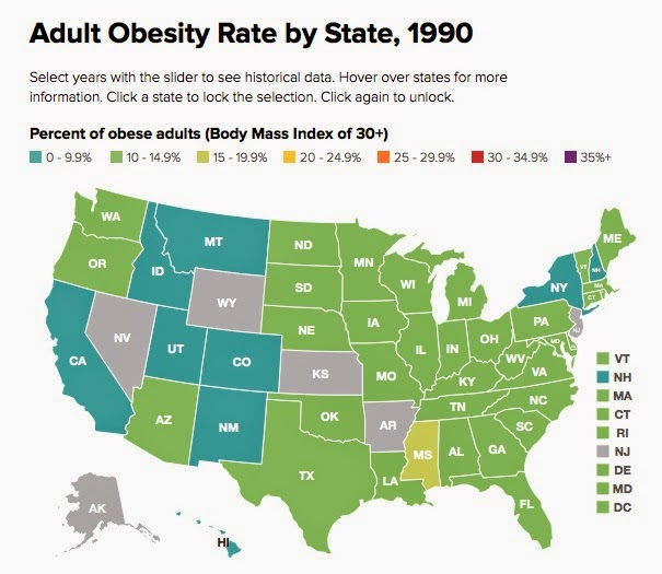 TYWKIWDBI TaiWikiWidbee Obesity In The United States A - Us obesity map 2015