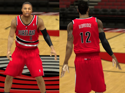 NBA 2K13 Portland Trail Blazers Alternate Jersey Patch