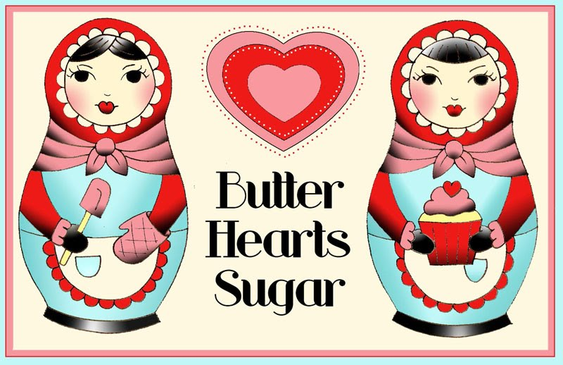 butter hearts sugar