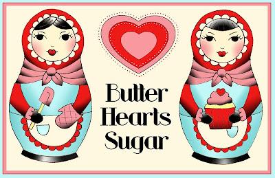 butter hearts sugar