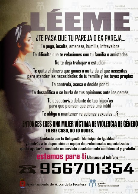 CARTEL DELEGACIÓN DE IGUALDAD  AYUNTAMIENTO DE ARCOS