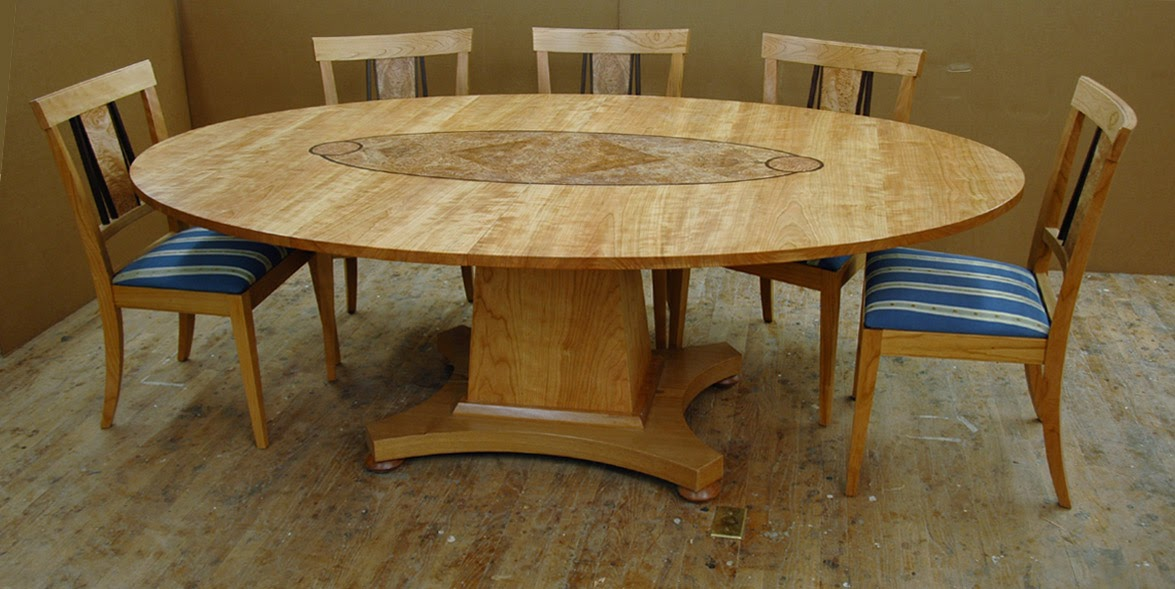 Dorset custom furniture a woodworkers photo journal for Custom dining room tables