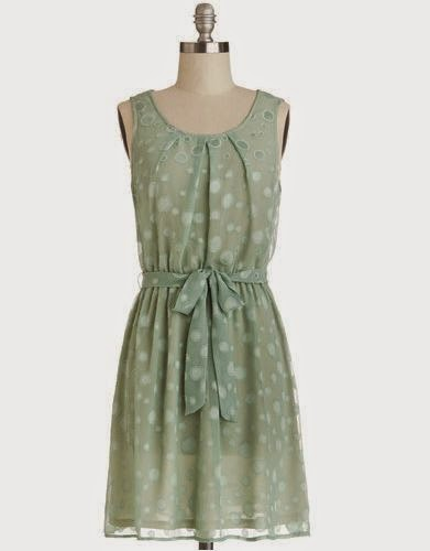 Bubbly Celebration, mint sage dress from ModCloth