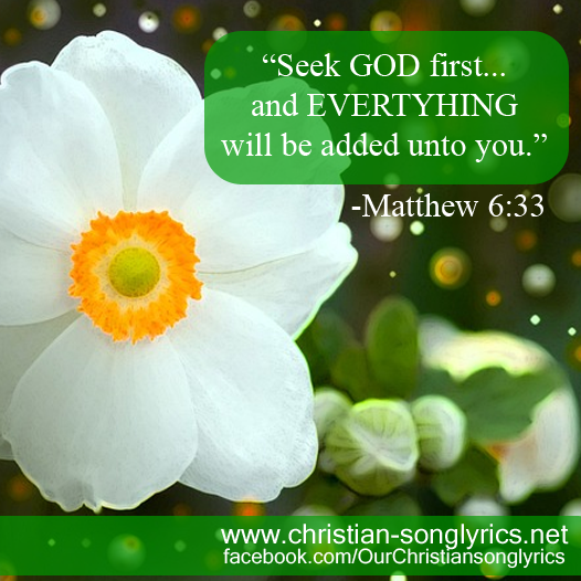Seek God first and EVERYTHING will be add unto you
