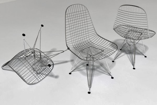 Thea scicluna 39 s blog the architect and the painter for Chaise wire eames