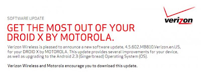Droid X Update Brings Fixed Gingerbread