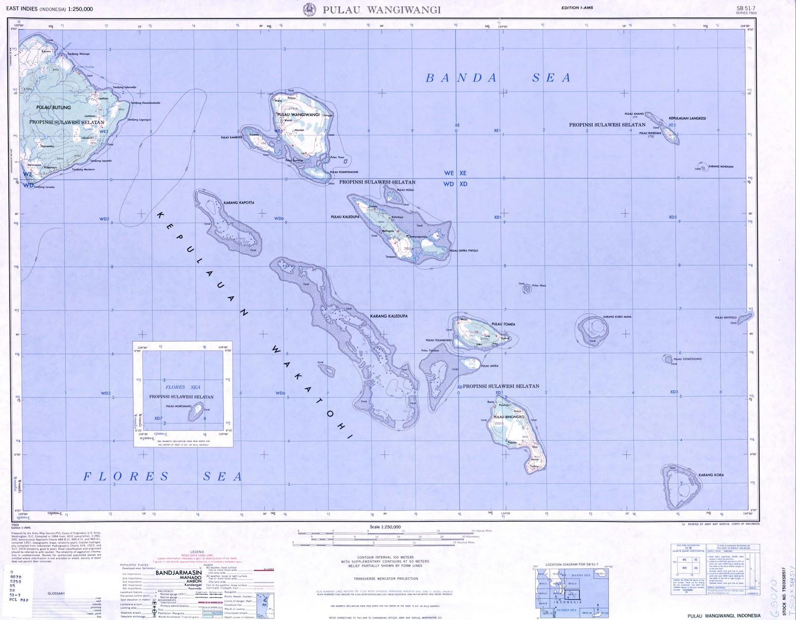 60 Peta Topografi Pulau Biak Skala 250k