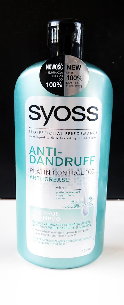SYOSS Anti-Dandruff Platin Control 100 Anti-Grease shampoo