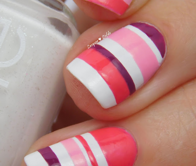 Essie Private Weekend Striping Nail Art