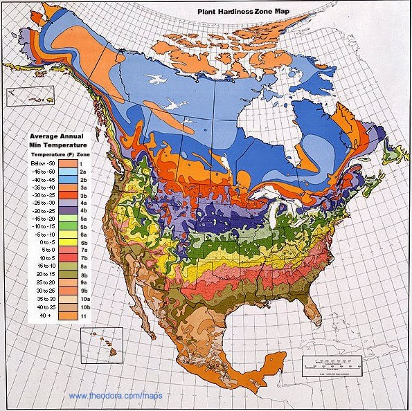 Climate Maps United States And Canada Free Printable Maps - Us map climate zones