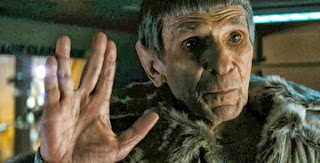 Leonard Nimoy as Old Spock in Star Trek Into Darkness, Directed by J. J. Abrams