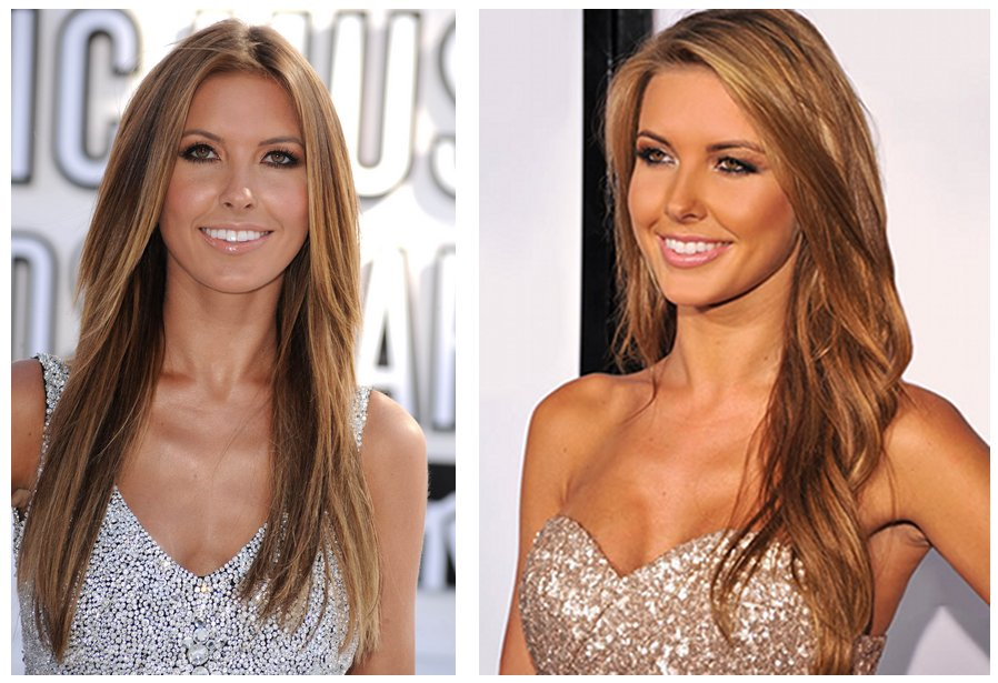Audrina Patridge with a caramel shade and subtle highlights.