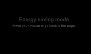 Active Energy Saving Mode or screen saver on Blogger blog