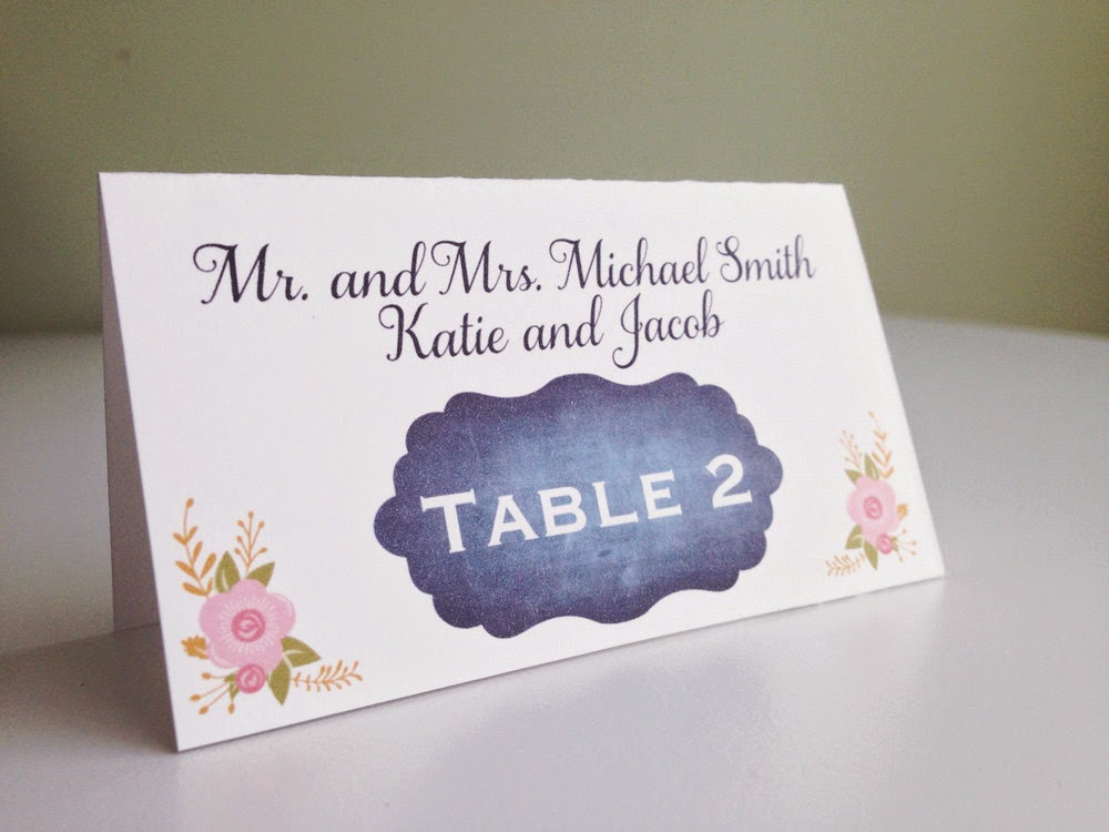 Rustic Wedding Escort Cards & Wedding Place Cards by Designed By M.E. Stationery