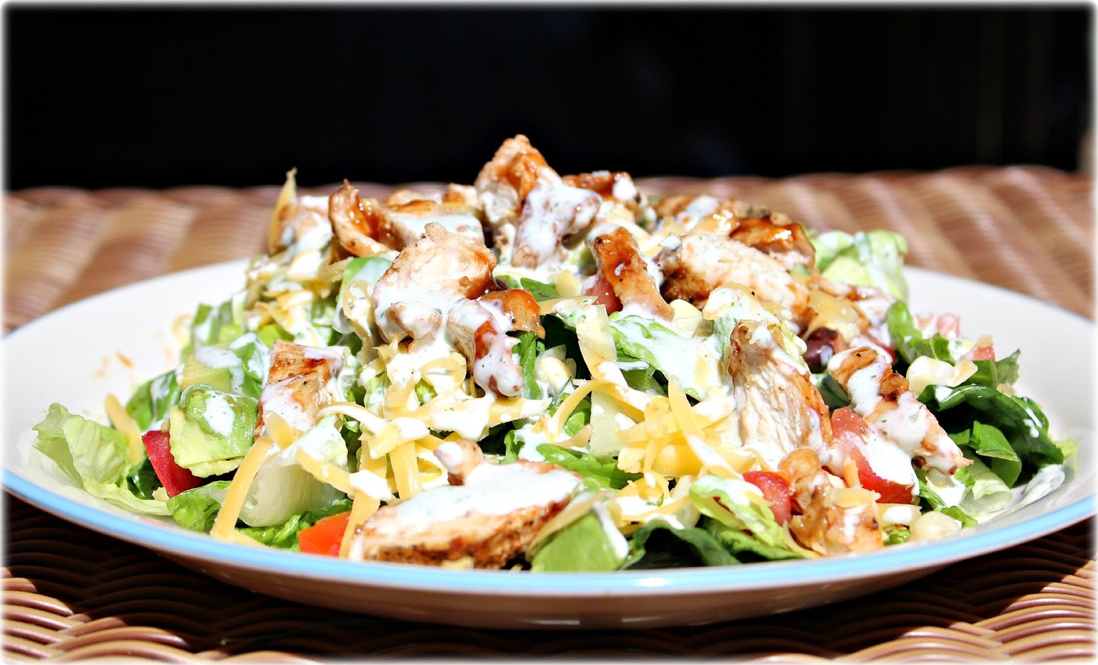 BBQ Chicken Salad w/ Cilantro Lime Ranch: AJcrazies by AJK