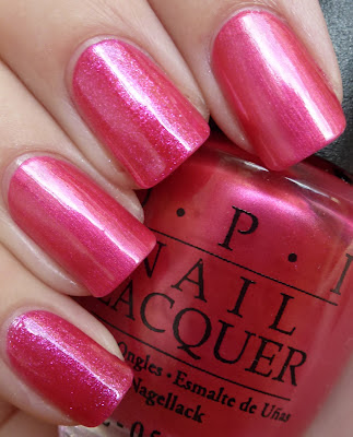 Pink comparison, OPI It's All greek to Me, China Glaze 108 Degrees