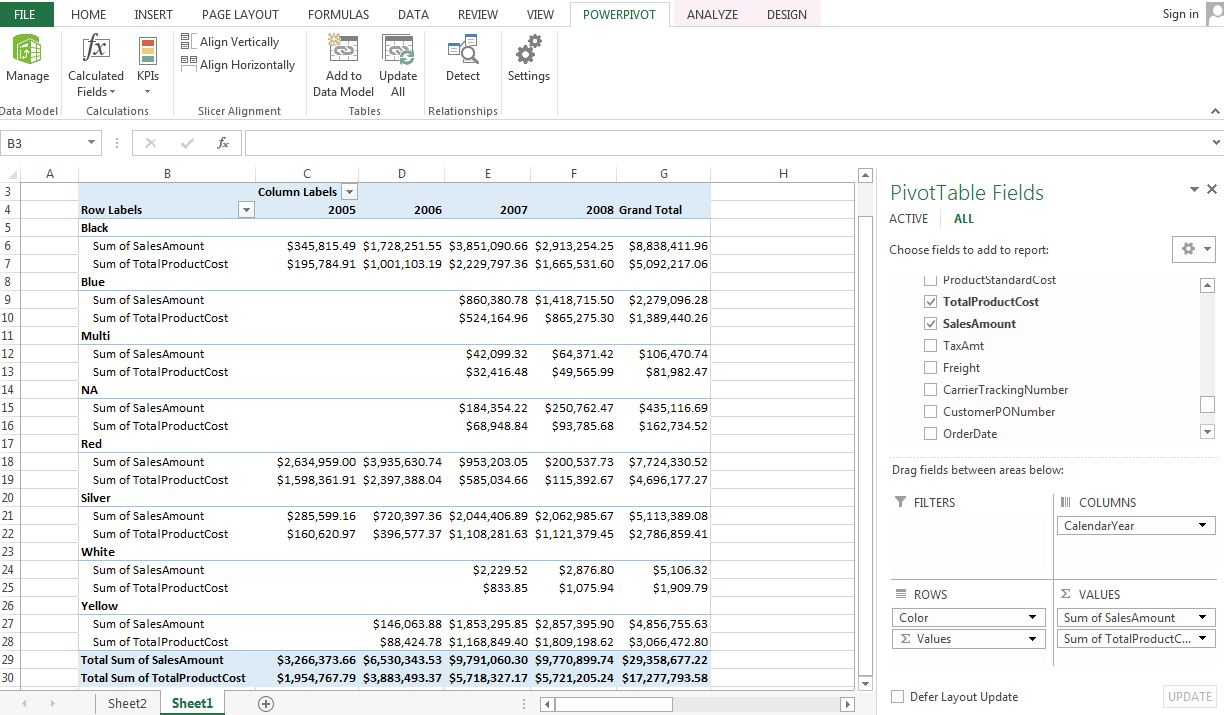 how to add calculated field in powerpivot