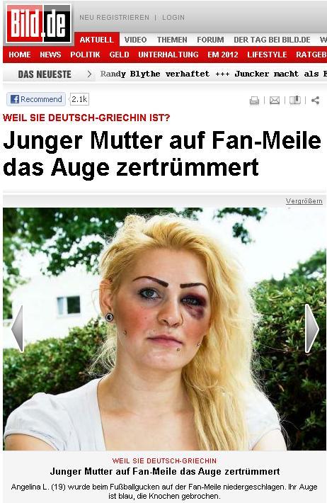 Ξυλοκόπησαν ελληνίδα στο Βερολίνο επειδή πανηγύρισε το γκολ της Ελλάδας – Δήλωση ΣΟΚ στην εφημερίδα Bild