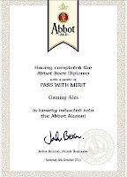 Abbot Beer Diploma