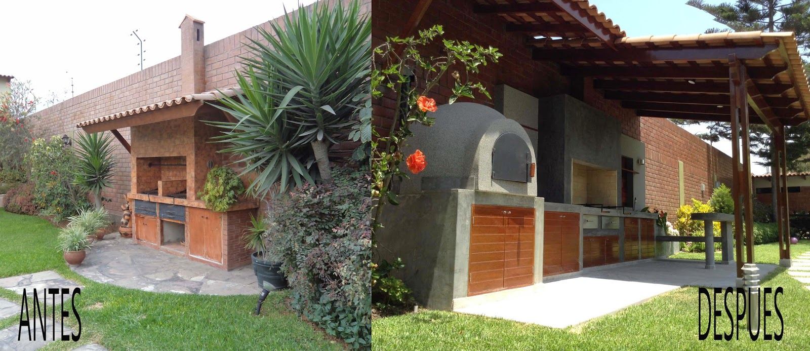 Oniria antes y despu s parrilla remodelada for Parrilla casa de coco