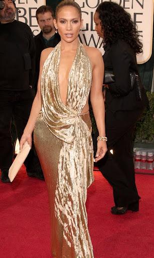 Дженифър Лопес в секси лъскава рокля