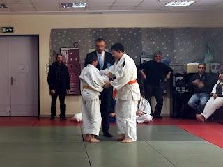 Ζευγάρι αγοριών σε αγώνα judo