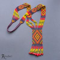 схема гердана найтана ткачество beading pattern looming necklace
