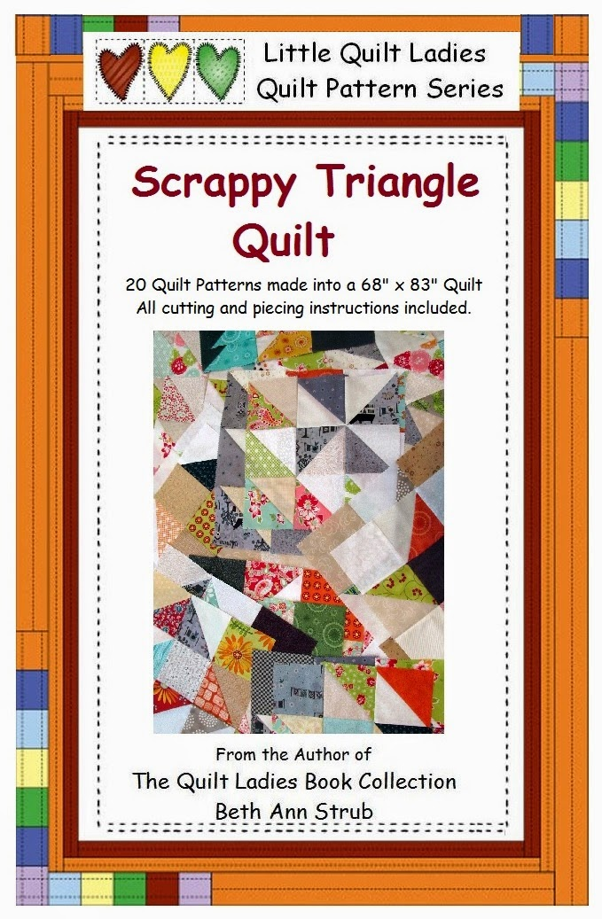 how to make a scrappy triangle quilt book