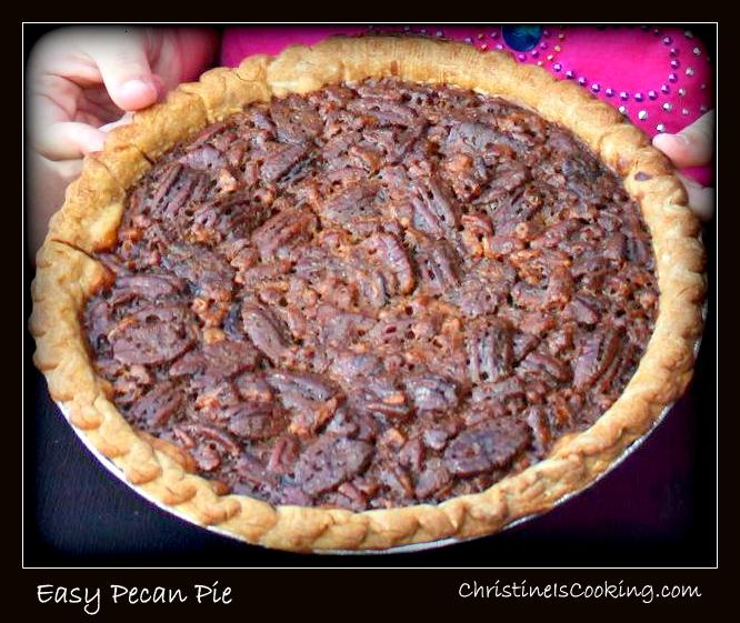 this is an easy traditional pecan pie recipe by easy i mean my 7 year ...