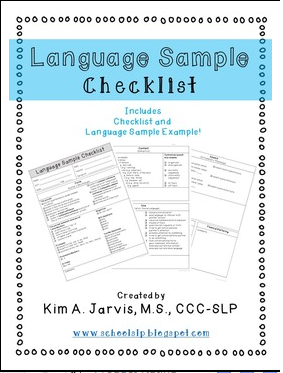 https://www.teacherspayteachers.com/Product/Language-Sample-Checklist-1699388