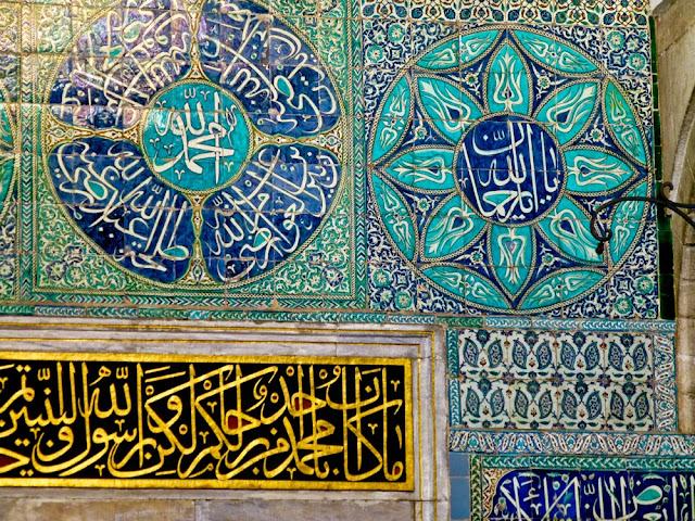 Detalle de la decoración del harem en el Palacio de Topkapi, Estambul