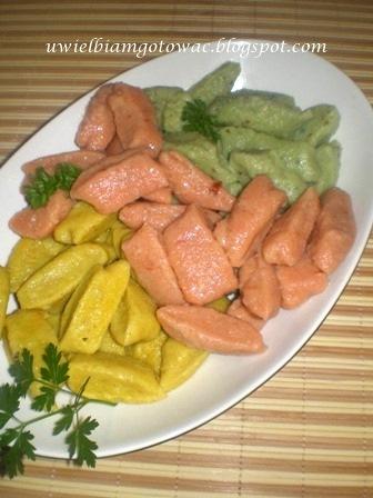 Gnocchi w trzech kolorach