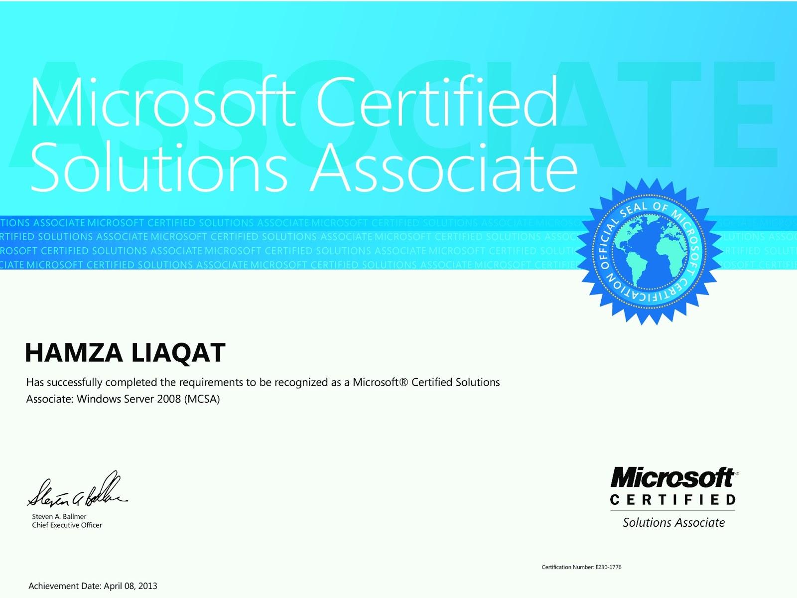 microsoft certified solutions associate