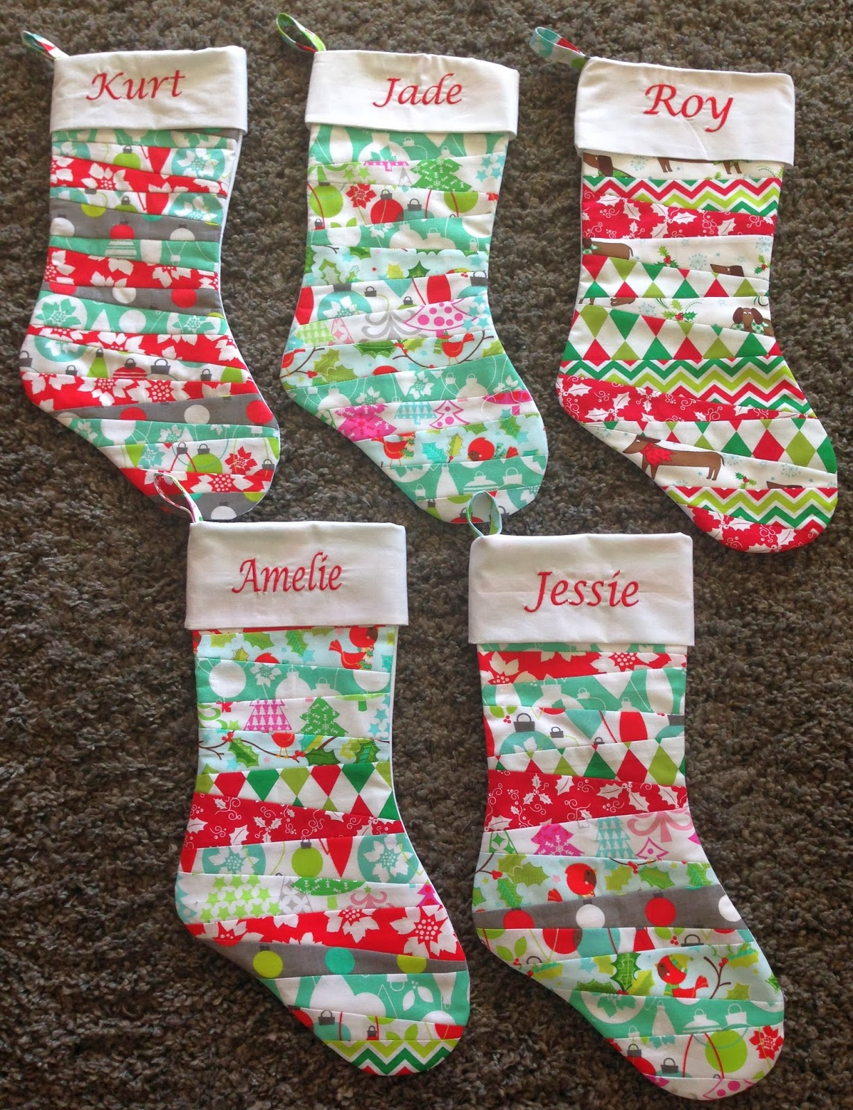 Vickis fabric creations cuffed christmas stocking tutorial ready jades stockings jeuxipadfo Gallery